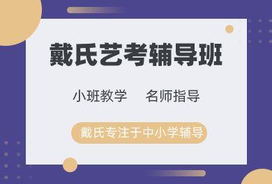 成都戴氏教育艺考文化课辅导班